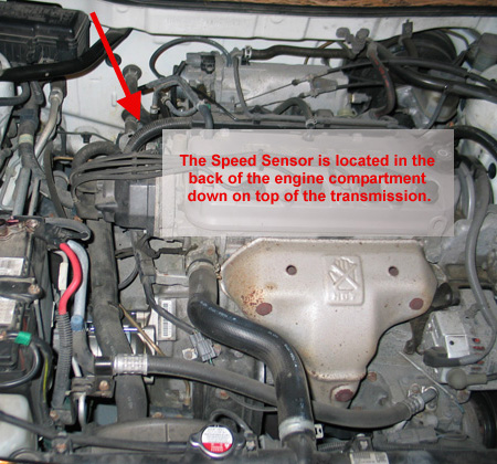 1998 Honda Accord Vehicle Speed Sensor Location